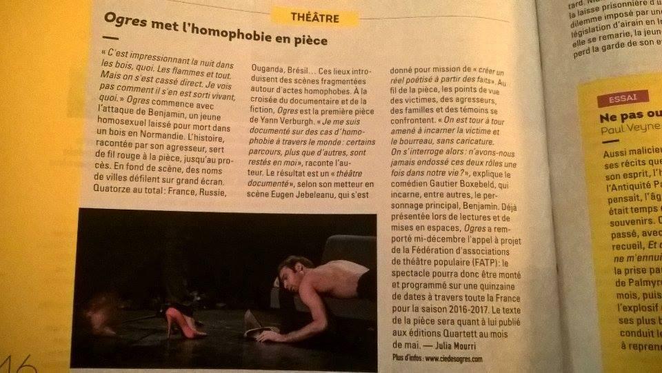 2016-31-01 - Amnestie International - Ogres met l'homophobie en pièce